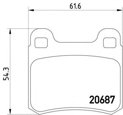 Фотография Комплект тормозных колодок, дисковый тормоз MINTEX MDB1560
