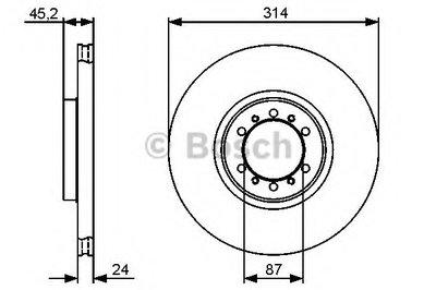 BOSCH 0986479469 Тормозной диск