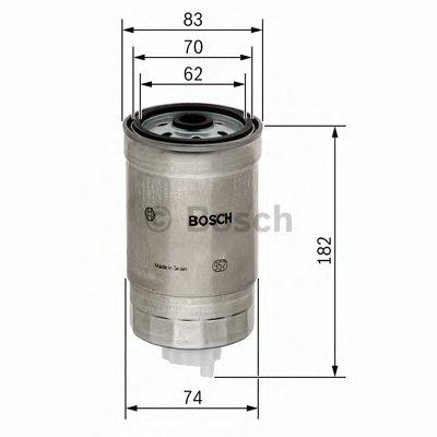 1457434324 BOSCH Топливный фильтр