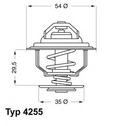 425587D WAHLER Термостат, охлаждающая жидкость