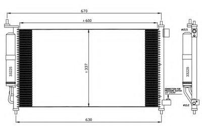 Радиатор кондиционера EASY FIT NRF 35583 для авто NISSAN с доставкой