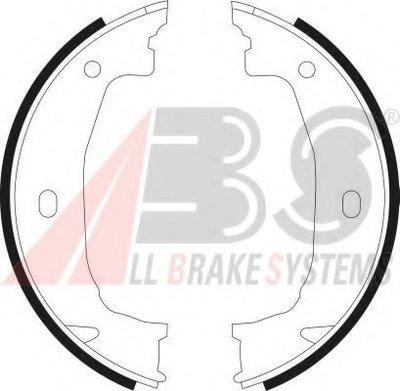 Комплект тормозных колодок, стояночная тормозная система A.B.S. купить