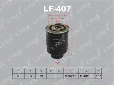 LF407 LYNXAUTO Топливный фильтр