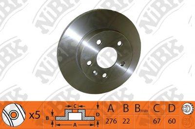 Автозапчасть/Диск тормозной nibk rn1081 NIBK RN1081 для авто  с доставкой