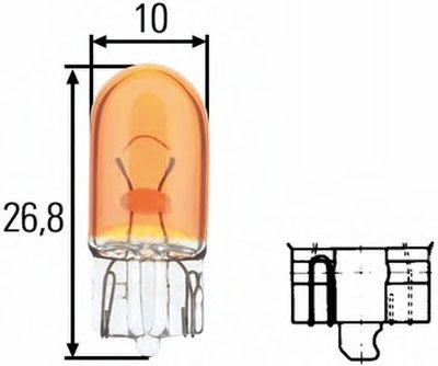 Лампа накаливания, фонарь указателя поворота; Лампа накаливания; Лампа накаливания, стояночный / габаритный огонь; Лампа накаливания, стояночный / габаритный огонь HELLA купить