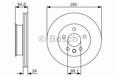 0986479S80 BOSCH Тормозной диск