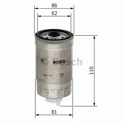 F026402011 BOSCH Топливный фильтр