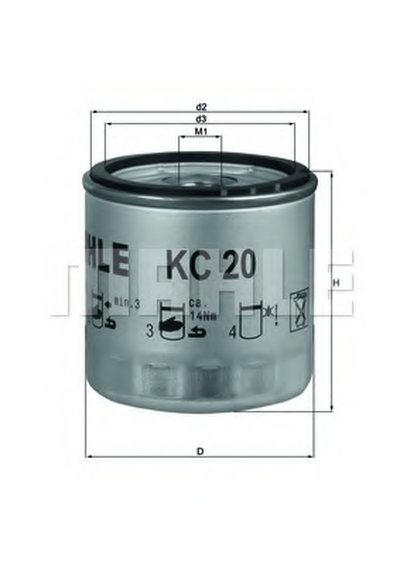 KC20 KNECHT Топливный фильтр