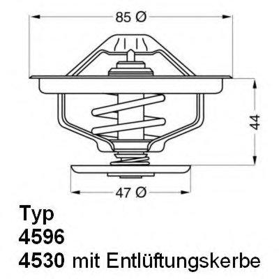 459683D WAHLER Термостат, охлаждающая жидкость