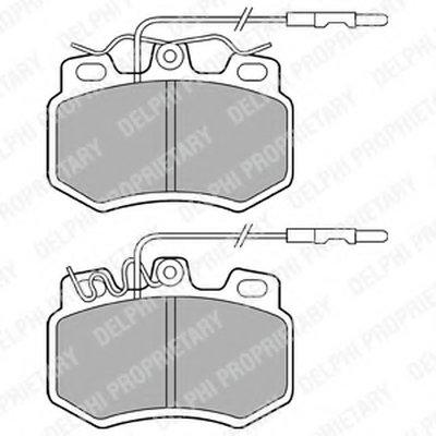 Комплект тормозных колодок, дисковый тормоз DELPHI купить