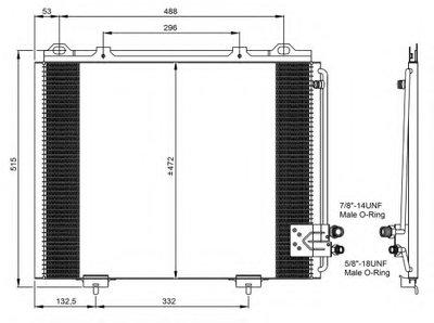Радиатор кондиционера NRF 35228 для авто MERCEDES-BENZ с доставкой