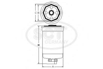 ST302 SCT GERMANY Топливный фильтр -2
