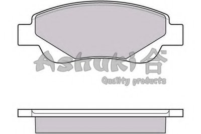 Комплект тормозных колодок, дисковый тормоз ASHUKI купить