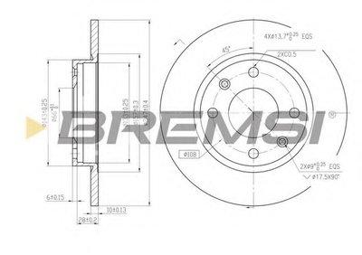 Тормозной диск BREMSI купить