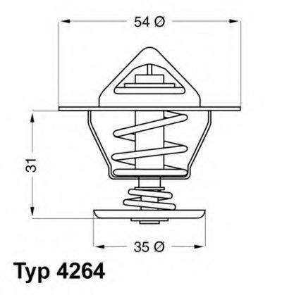 426484D WAHLER Термостат, охлаждающая жидкость