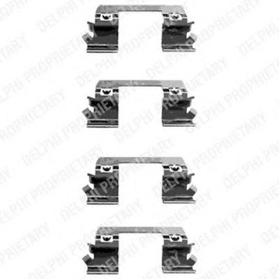 Lx0336_!ремк-Т Торм.колодок Пер. Mb W211S211 2.02.22.42.7 02 DELPHI LX0336 для авто MERCEDES-BENZ с доставкой