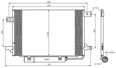 Конденсатор NRF 35758 для авто MERCEDES-BENZ с доставкой