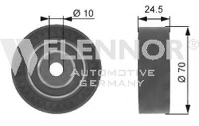 Натяжной ролик, поликлиновой  ремень FLENNOR купить
