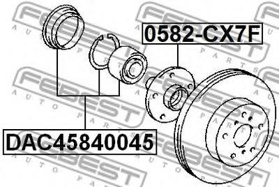 DAC45840045 FEBEST Комплект подшипника ступицы колеса