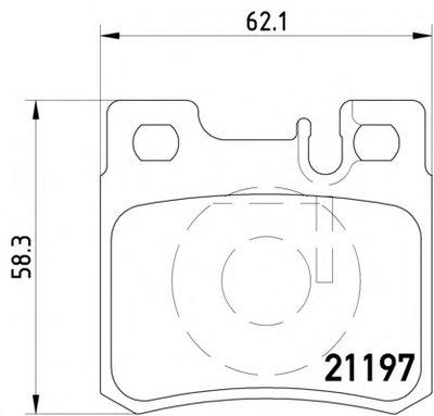 Колодки Тормозные Дисковые TEXTAR 2119701 для авто MERCEDES-BENZ с доставкой