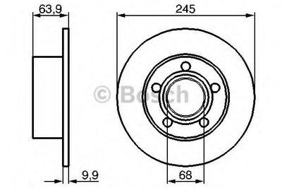 Гальмівний диск AUDI VW 100, A6, Passat R