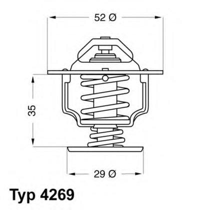 426978D WAHLER Термостат, охлаждающая жидкость