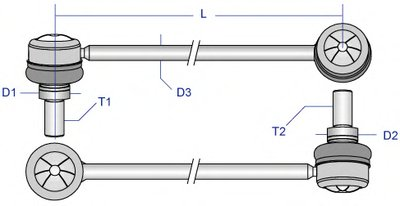 PEDS6904 MOOG Тяга / стойка, стабилизатор