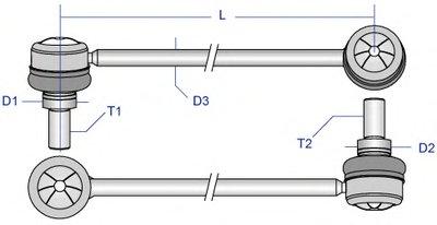 Тяжка стабилизатора MOOG MELS2252 для авто MERCEDES-BENZ с доставкой