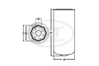 ST754 SCT GERMANY Топливный фильтр