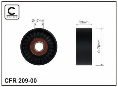 76x17x33 Ролик направляючий Kia Sorento 2.5CRDI 02.05- CAFFARO 20900 для авто HYUNDAI, KIA с доставкой