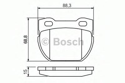 Комплект тормозных колодок, дисковый тормоз BOSCH купить
