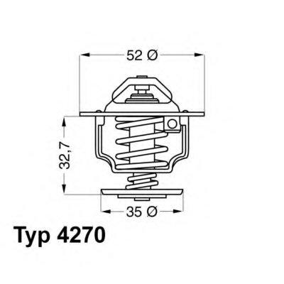 427088D WAHLER Термостат, охлаждающая жидкость