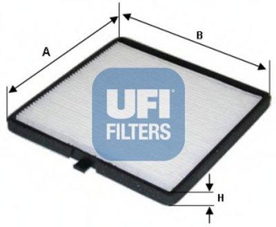 5314100 UFI Фильтр, воздух во внутренном пространстве