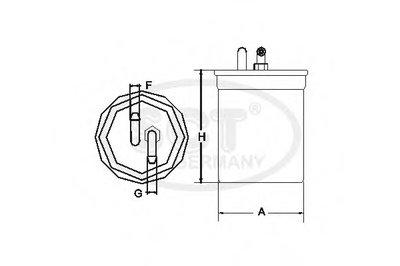 ST303 SCT GERMANY Топливный фильтр -2