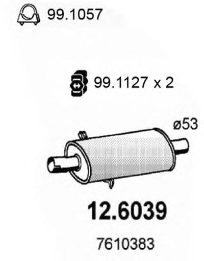 Средний глушитель выхлопных газов ASSO купить