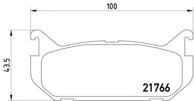 2176603_Колодки Дисковые Задние! Mazda 626 1.8-2.52.0D 92-98Xedos 1.62.0 92 TEXTAR 2176603 для авто FORD USA, MAZDA с доставкой