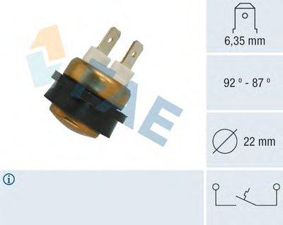 Термовыключатель, вентилятор радиатора FAE 36070 для авто VOLVO с доставкой