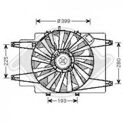 Вентилятор, охлаждение двигателя DIEDERICHS купить