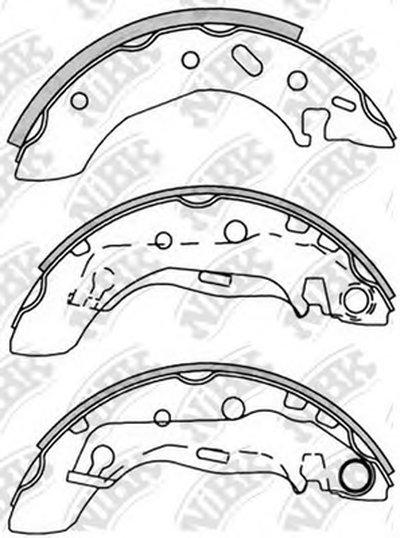 Комлект тормозных накладок-1