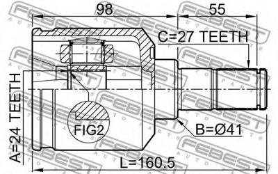 Шрус Внутренний FEBEST 2211NS20LH для авто KIA с доставкой-1