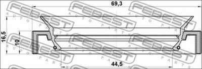 Сальник гумометалевий FEBEST 95HAS46691016C-1
