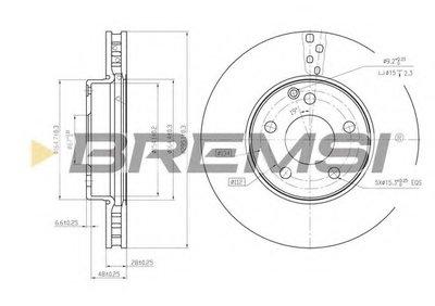 Тормозной диск перед. MB W211 02-09/S211 03-09 (вент.) (295x28)