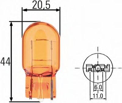 Лампа накаливания, фонарь указателя поворота; Лампа накаливания, фонарь указателя поворота HELLA купить
