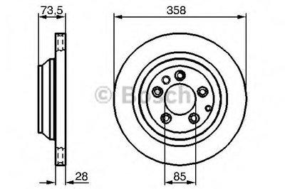 Гальмівний диск AUDI/PORSCHE/VW