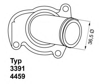 445992D WAHLER Термостат, охлаждающая жидкость