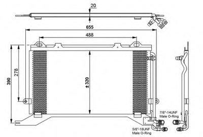 Радиатор кондиционера NRF 35240 для авто MERCEDES-BENZ с доставкой
