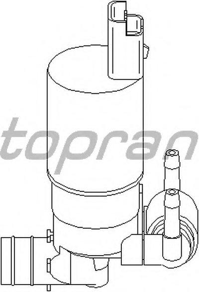 Водяной насос, система очистки окон; Водяной насос, система очистки фар TOPRAN купить