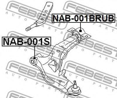 Сайлентблок передний рычага NISSAN/INFINITI MAXIMA CA33 2000.01-2006.01 [EL] FEBEST NAB001BRUB-1