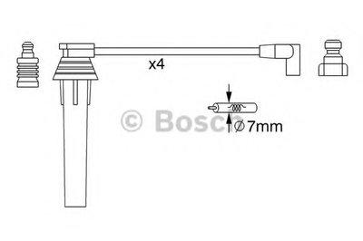 BOSCH 0986357270 Комплект высоковольтных проводов