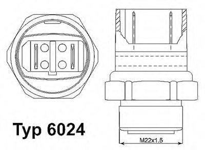 602495D WAHLER Термовыключатель, вентилятор радиатора